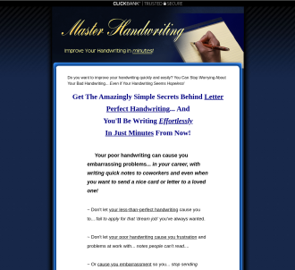 Improve Your Handwriting In Minutes! 75% Comm!