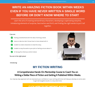 New)) My Fiction Writing - Creative Writing Course - Launched In 2019!