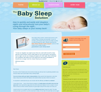 The Baby Sleep Solution Audio Program.