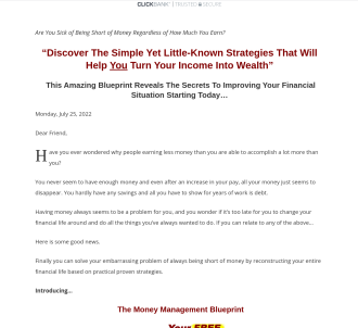 The Money Management Blueprint