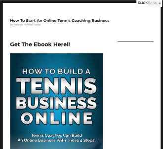 How To Build An Online Tennis Coaching Business
