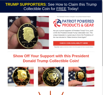 President Trump Commemorative Black & Gold Coin
