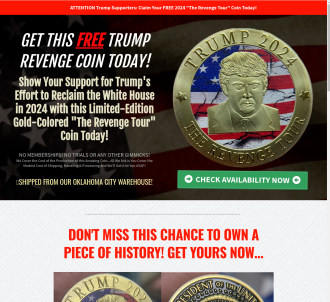 Free Trump 2024  the Revenge Tour  Gold Coin