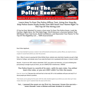 Police Exam Guide - How To Pass The Police Test
