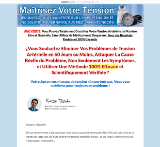 Blood Pressure Natural Treatment - French Market.