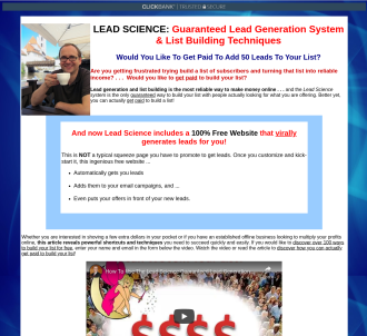 Lead Science: Get Paid To Build Your List Daily Without Selling!
