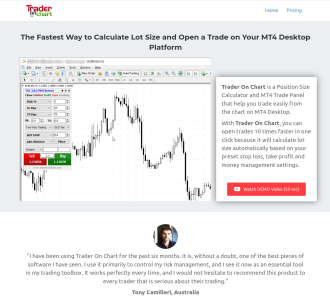 Trader On Chart - Mt4 App To Make Forex Trading Easier
