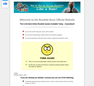 Roulette Boss - How To Win At Online Roulette Like A Boss!