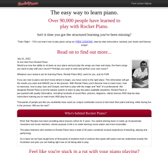 Rocket Piano - Learn Piano Today!