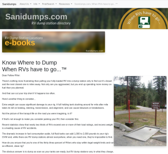 Know Where To Dump When Your RV Has To Go...