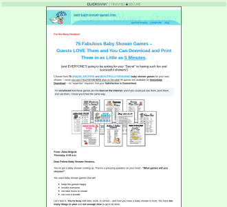 Best Baby Shower Games On The Internet - High Conversion Rate