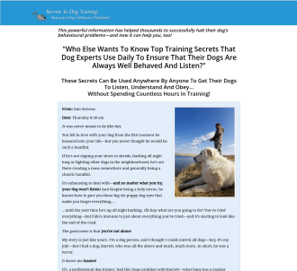 Secrets To Dog Training: Stop Your Dog s Behavior Problems!