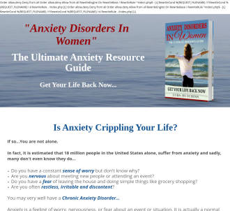 Anxiety Disorders In Women - The Ultimate Resource Guide