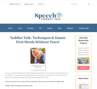 Toddler Talk: Techniques & Games