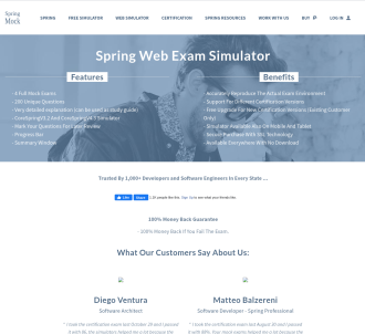 Spring Core Certification Web Simulator
