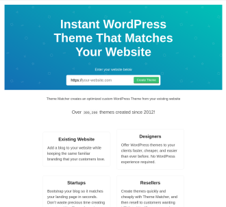 Instant Wordpess Theme To Match Your Existing Website Design!