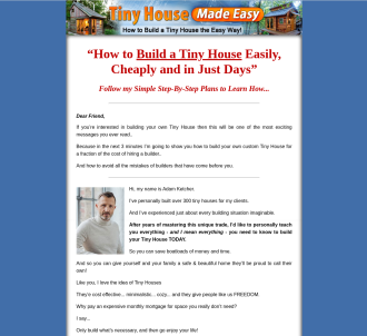 Tiny House Made Easy ~ 12.4% Conv ~ $100 First Sale Bonus