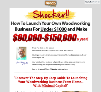 Woodprofits - $80 Per Sale - New Copy Doubles Conversions!