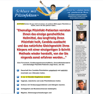 Schluss Mit Pilzinfekten (tm)~ Yeast Infection No More (tm) In German!
