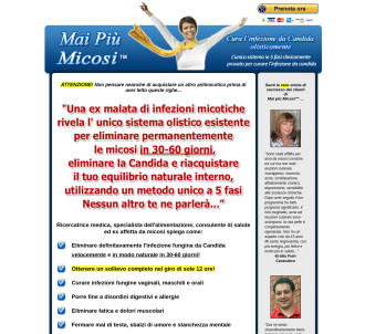 Mai Più Micosi (tm) : Yeast Infection No More (tm) In Italian!