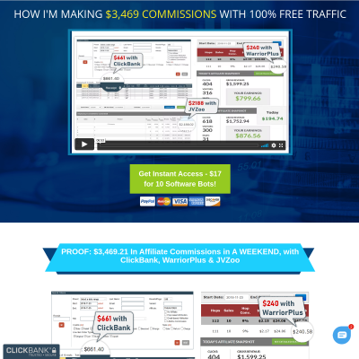Traffic Bots - 10 Affiliate Tools = 75% Commissions & $$ Cash Prizes!