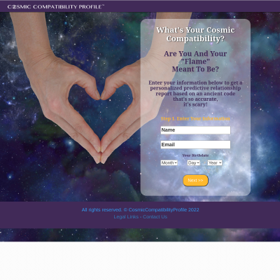 Personalized Cosmic Compatibility Profile - 75% Commissions