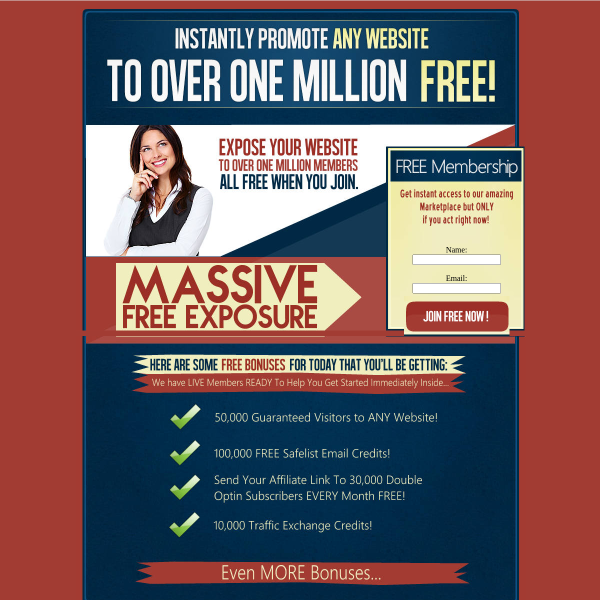 Get Your 1 MILLION VIEWS of Your Website HERE  for FREE!
