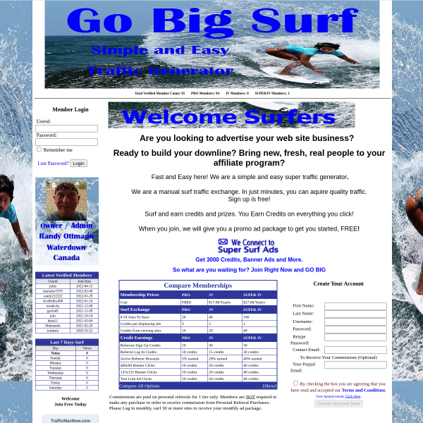 Go Big Surf will drive visitors to ANY website