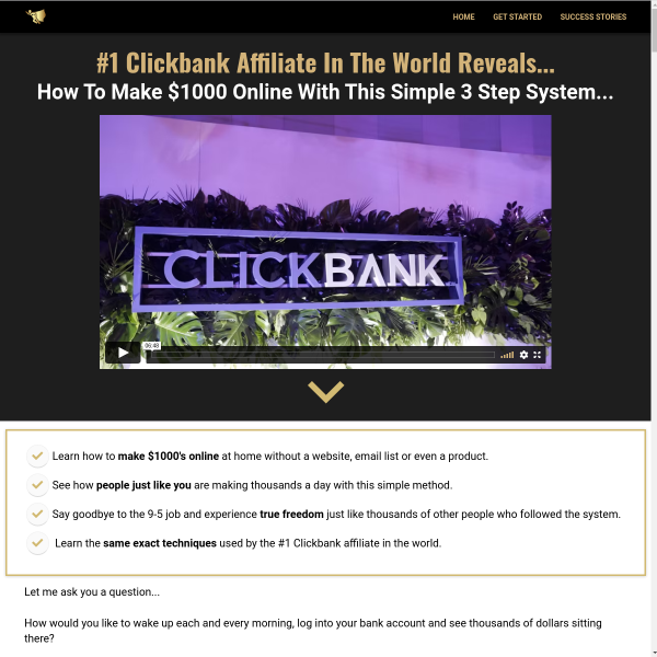 981k in One Month from Clickbank