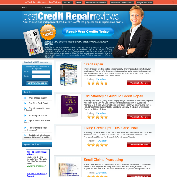 Top Credit Repair Website Reviews