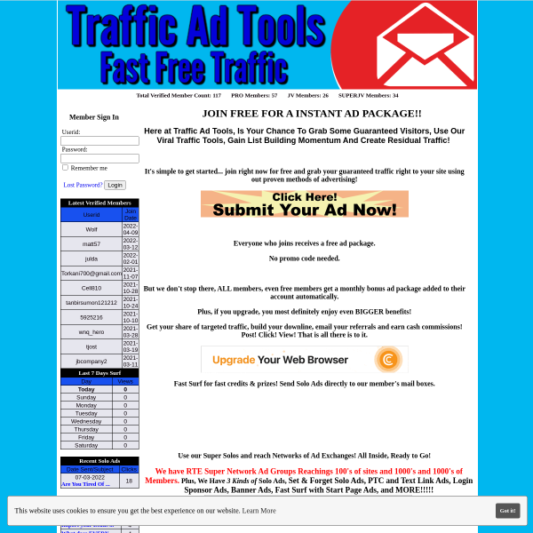 JOIN FREE FOR A INSTANT AD PACKAGE!!