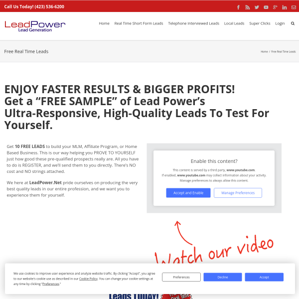 You can get 10 Free MLM Leads (Fresh Leads)