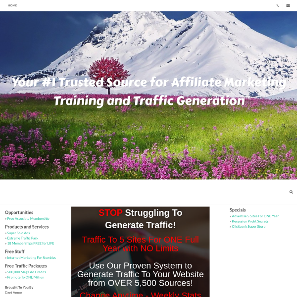 Advertise 5 URLs For ONE YEAR!
