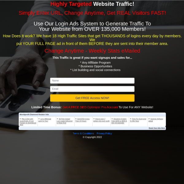50,000 VISITORS TO ANY WEBSITE  Tracking Included  FREE NO Strings Attached!