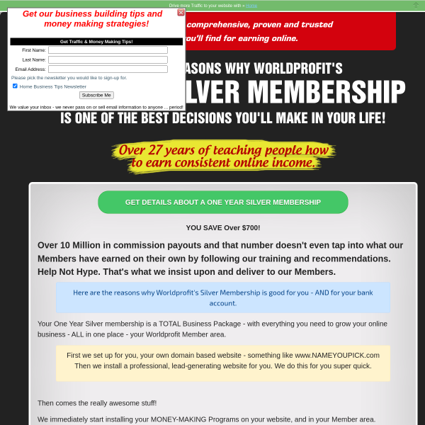 Now YOU can work online at home. Complimentary Lifetime Membership Shows You How