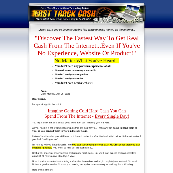 Fast Track Cash - Get your FREE Copy!