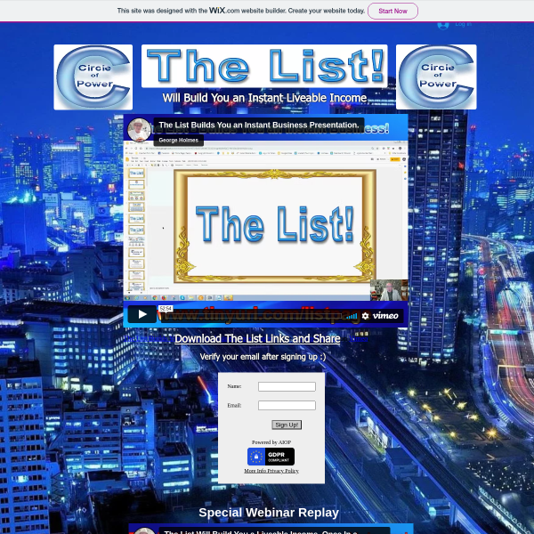 The List - Builds you an Instant Income Business