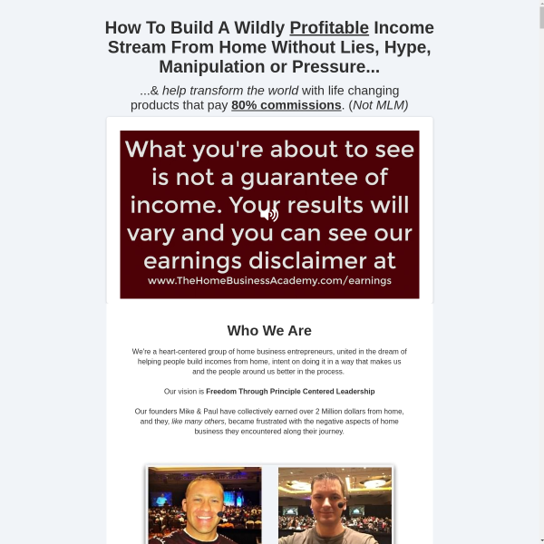 Apply To Join The Home Business Academy