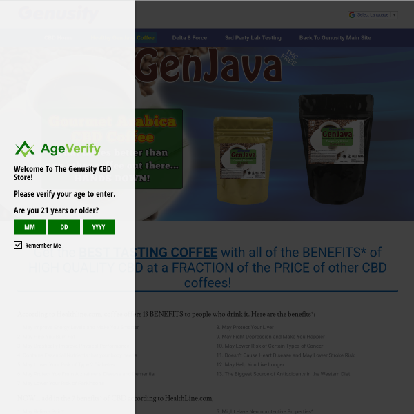Get theBEST TASTING COFFEEwith all of the BENEFITS* of HIGH QUALITY CBD at a FRACTION of the PRICE