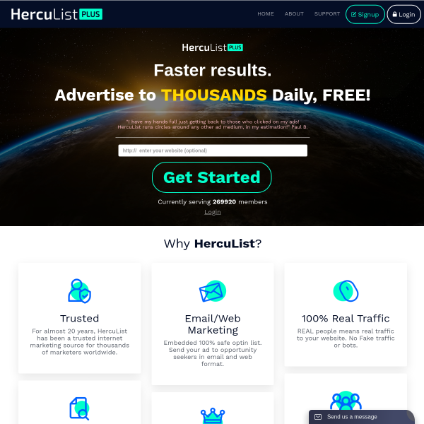 Advertise Your Website For FREE!
