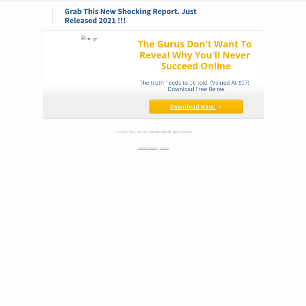Grab This Shocking Report The Gurus Don't Want You To Read