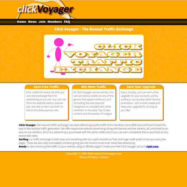 Click Voyager - The Manual Traffic Exchange