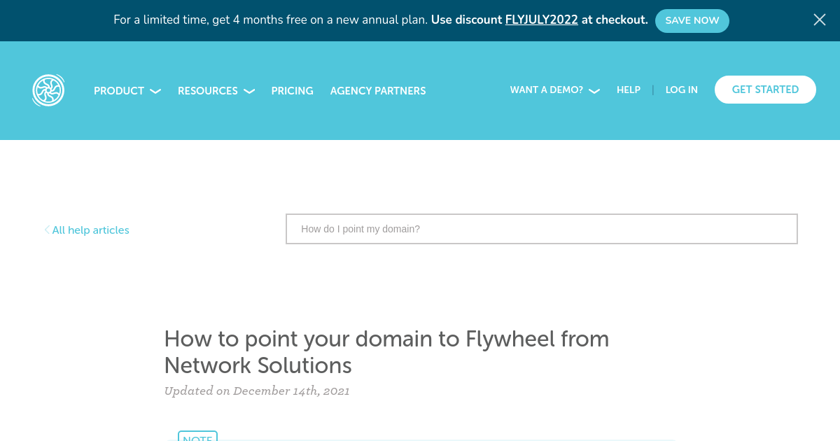 How to point your domain to Flywheel from Network Solutions