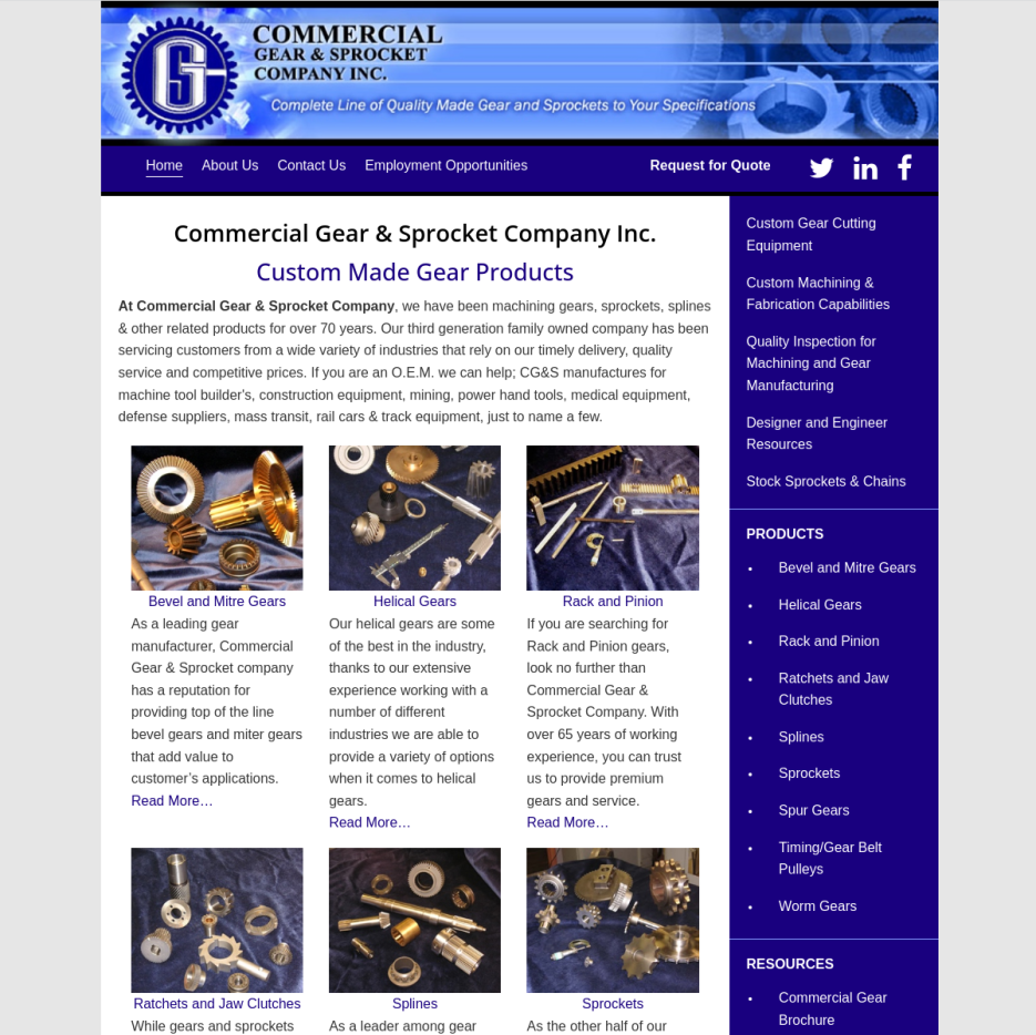 Commercial Gear & Sprocket Company, Inc. – Differential Gears