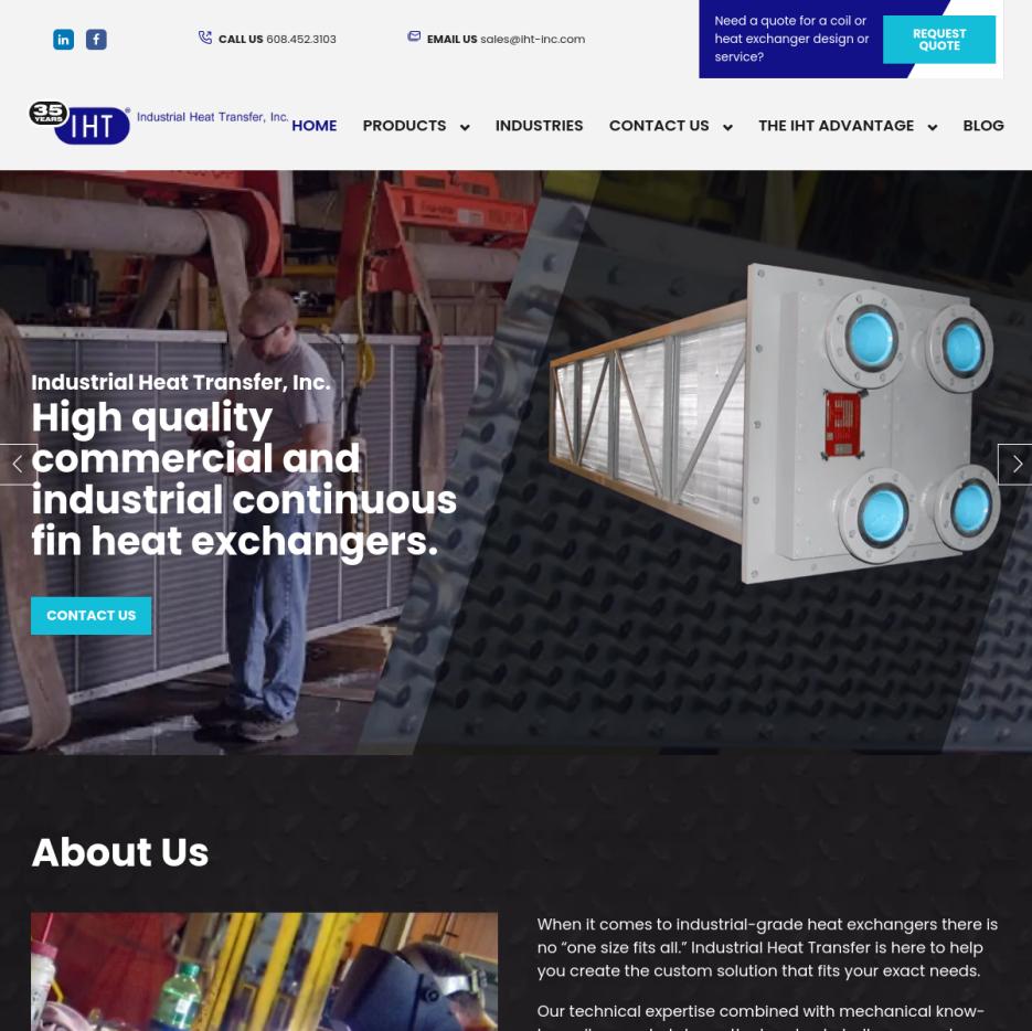 Industrial Heat Transfer, Inc.  Heat Transfer Equipment