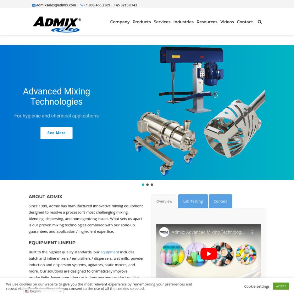 Admix – Static Mixers