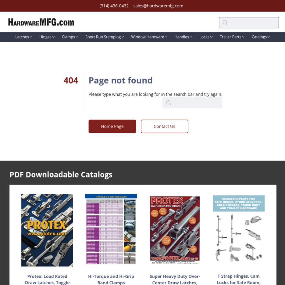 Hardware Mfg. - Pull Handles