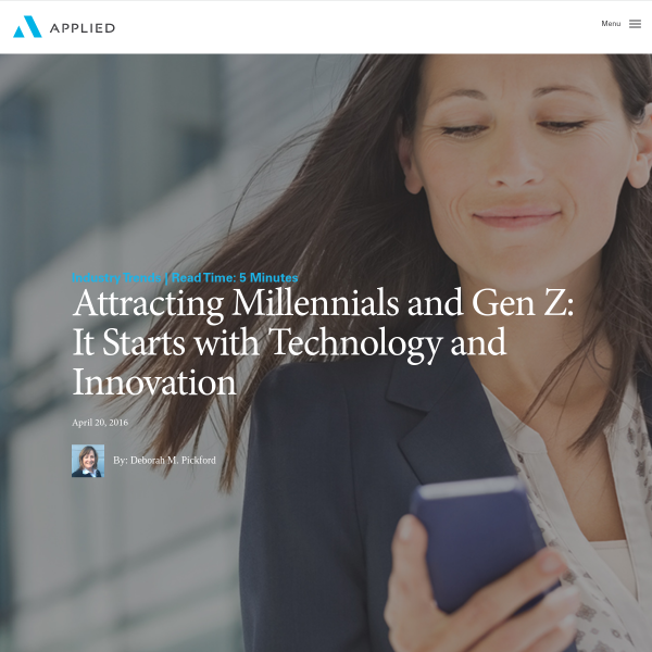 Attracting Millennials and Gen Z: It Starts with Technology and Innovation - Applied Systems Blog