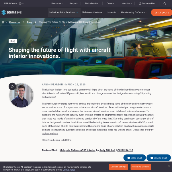 Shaping the Future of Flight with Aircraft Interior Innovations - Stratasys Blog