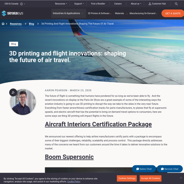 3D Printing and Flight Innovations: Shaping the Future of Air Travel - Stratasys Blog